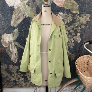 LL Bean chore jacket barn coat tan corduroy green